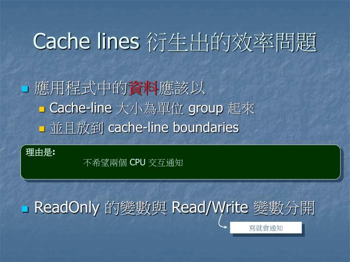 Cache lines
