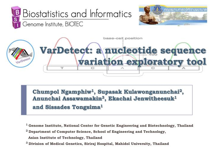 PPT - VarDetect: a nucleotide sequence variation exploratory tool