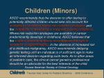 children minors