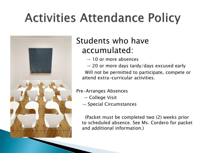 Activities Attendance Policy
