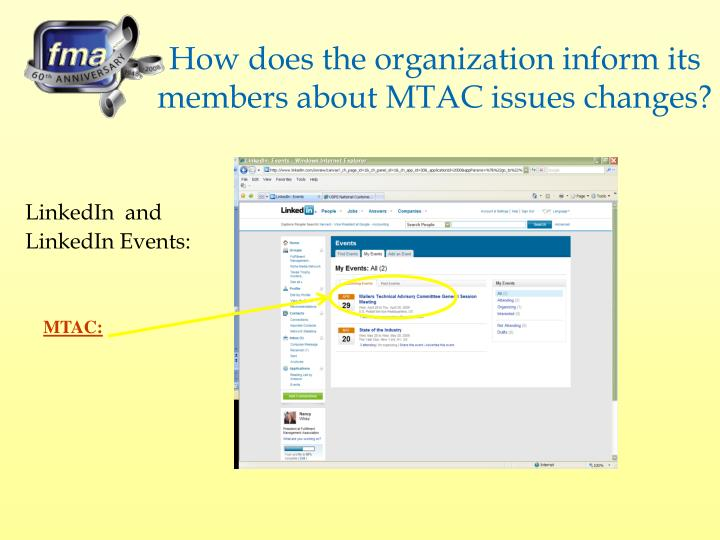 How does the organization inform its members about MTAC issues changes?