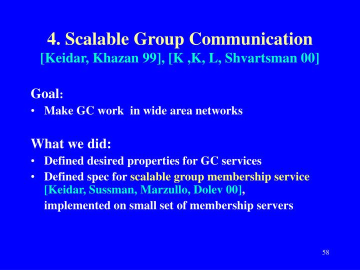 4. Scalable Group Communication