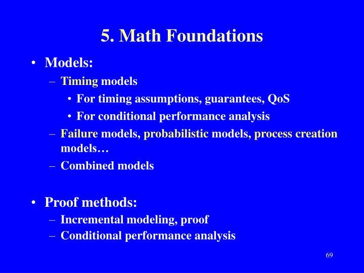 5. Math Foundations