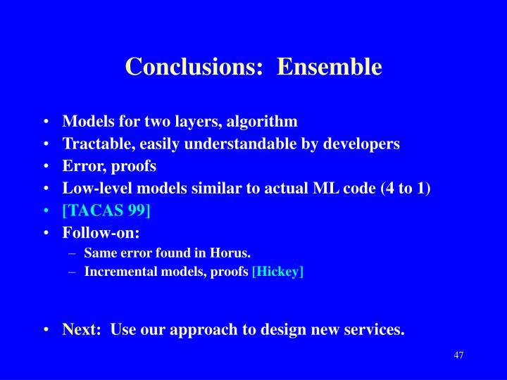 Conclusions:  Ensemble