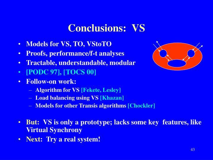 Conclusions:  VS