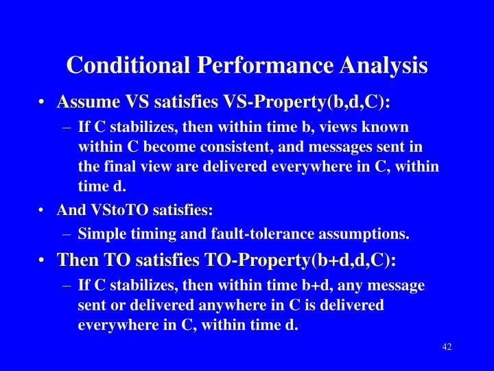 Conditional Performance Analysis
