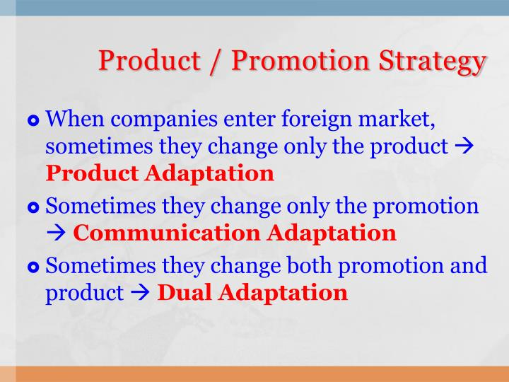 adapting products for foreign markets