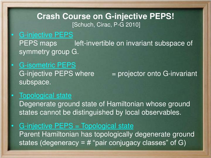 G-injective PEPS