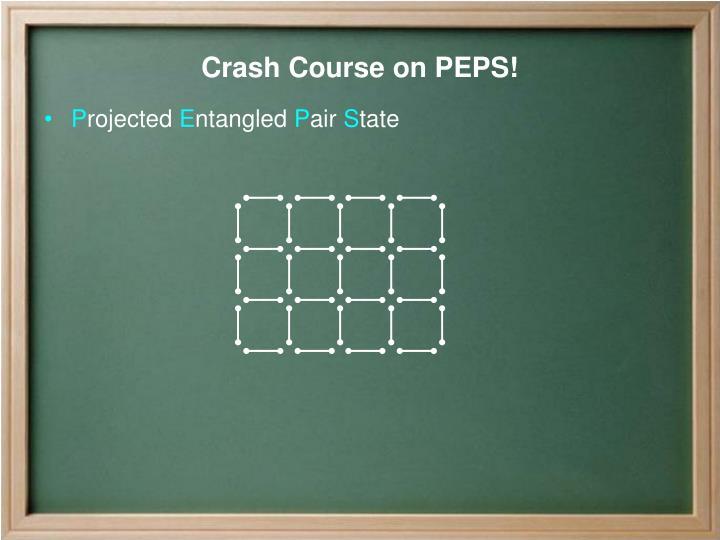 Crash course on peps