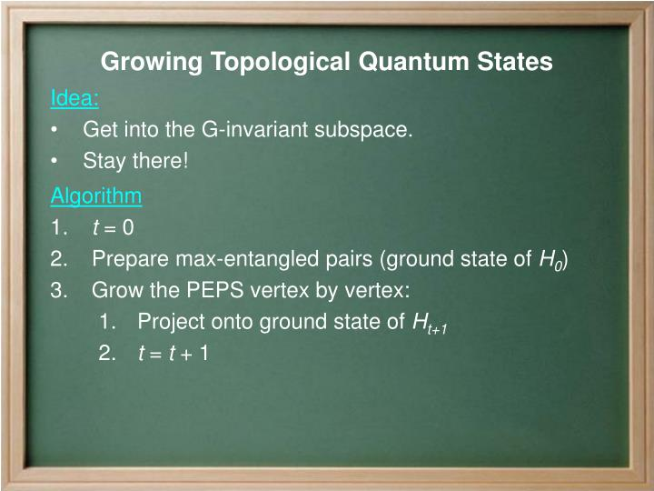 Growing Topological Quantum States