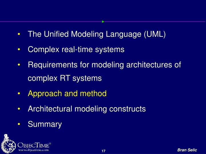 The Unified Modeling Language (UML)