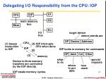 delegating i o responsibility from the cpu iop