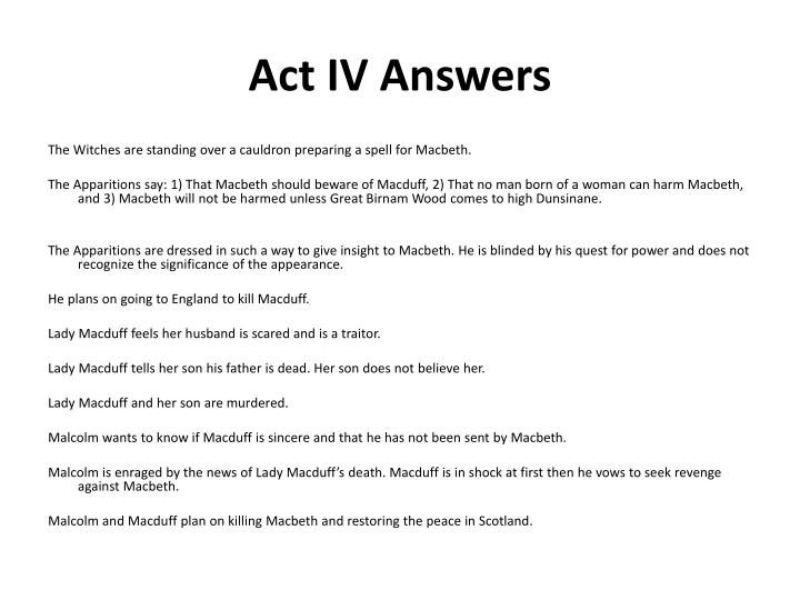 Act IV Answers
