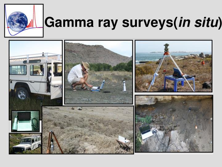 Gamma ray surveys in situ
