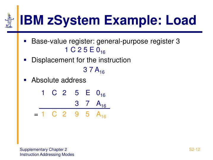 IBM zSystem Example: Load