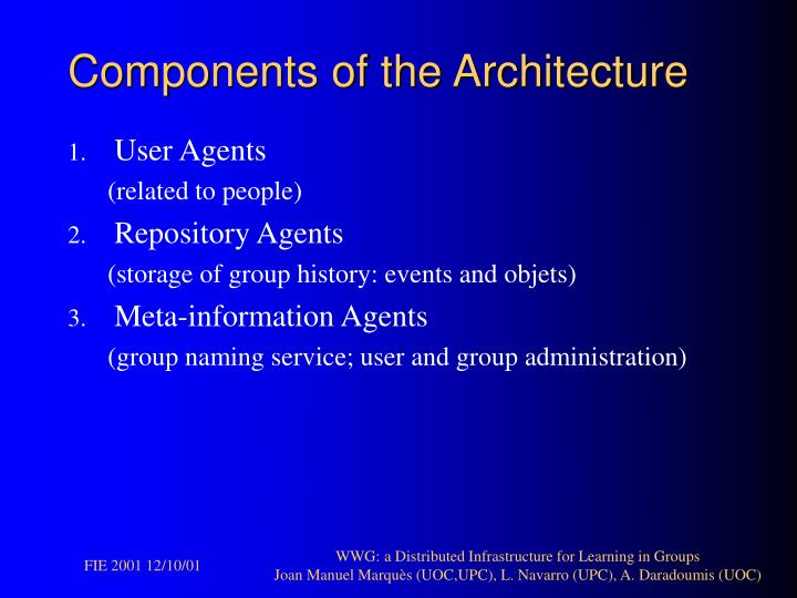Components of the Architecture