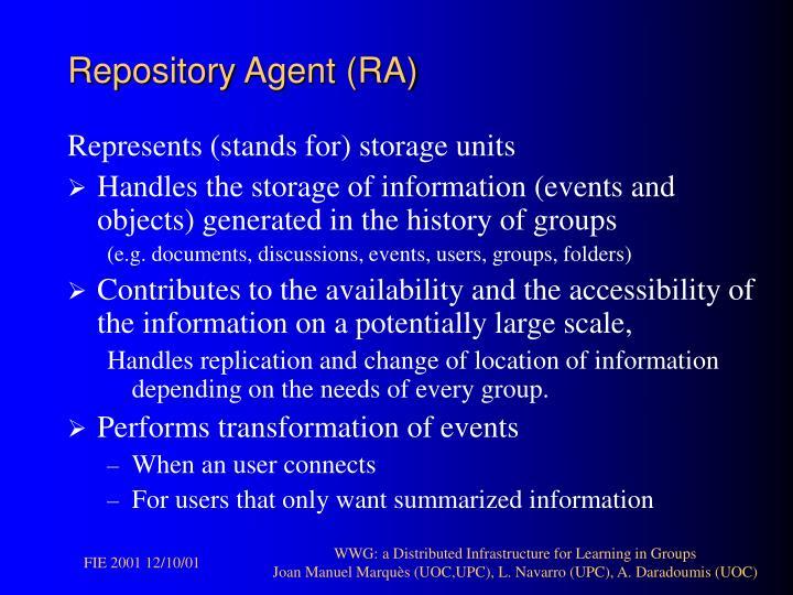 Repository Agent (RA)