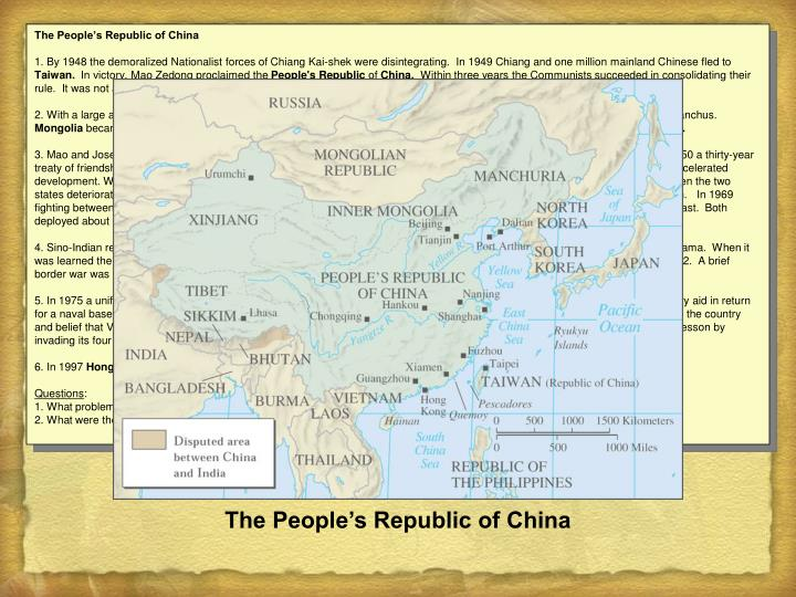 The People's Republic of China