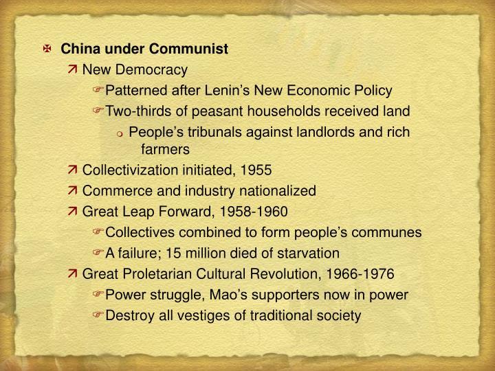 China under Communist