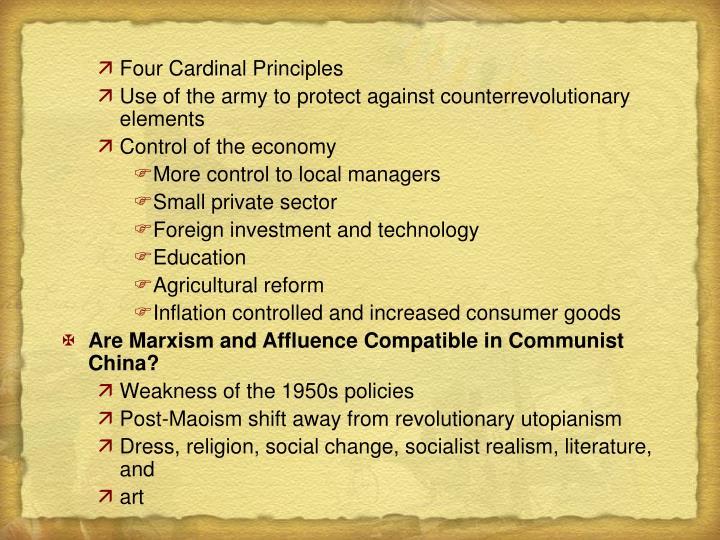 Four Cardinal Principles