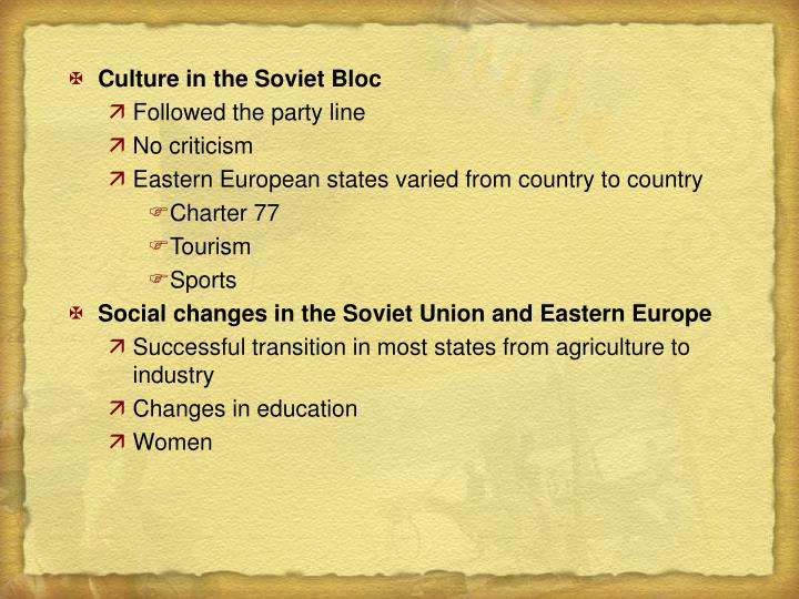 Culture in the Soviet Bloc