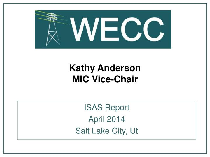 Kathy anderson mic vice chair