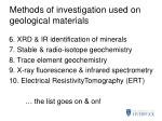methods of investigation used on geological materials5