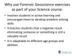 why use forensic geoscience exercises as part of your science course1