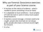 why use forensic geoscience exercises as part of your science course2
