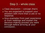 step 3 whole class