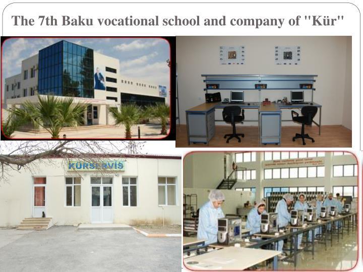 "The 7th Baku vocational school and company of ""Kür"""