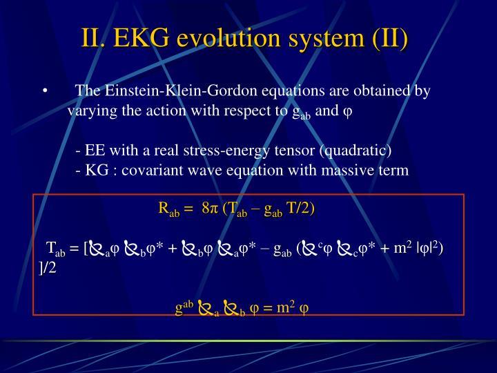 II. EKG evolution system (II)