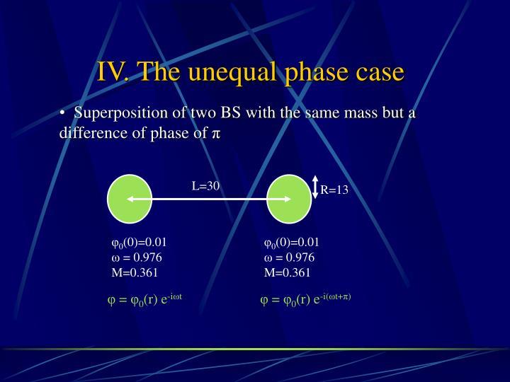 IV. The unequal phase case