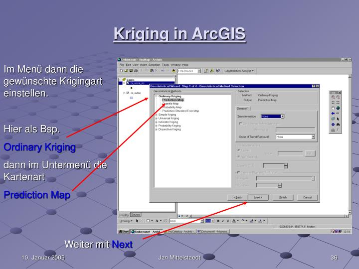 Kriging in ArcGIS