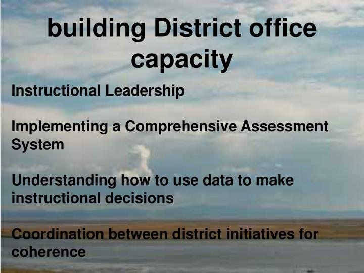 building District office capacity