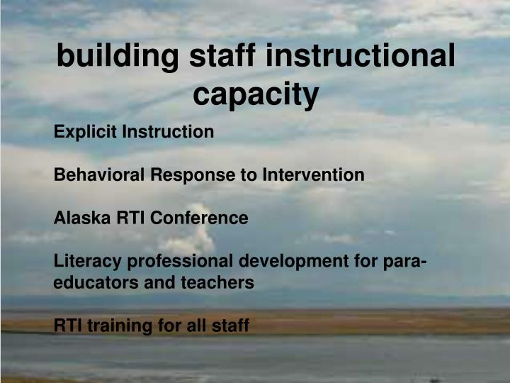 building staff instructional capacity