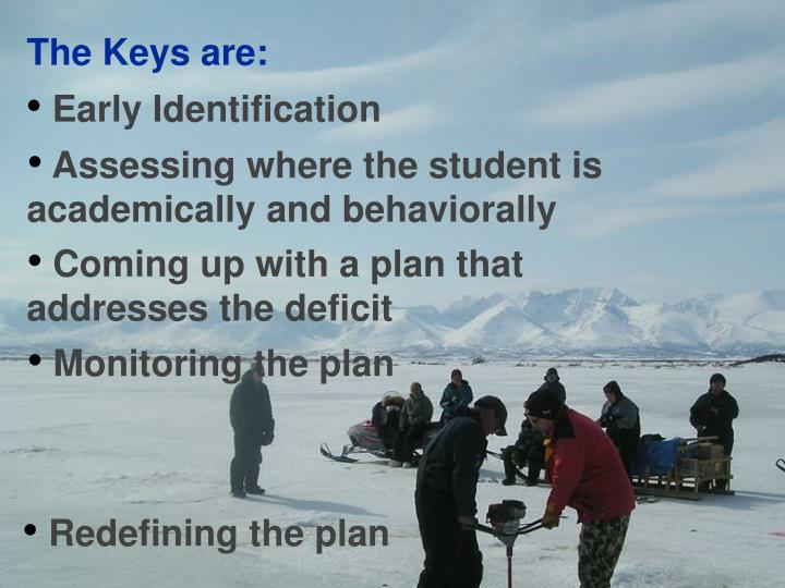 The Keys are: