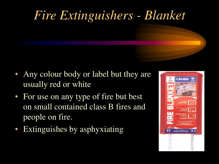 Fire Extinguishers - Blanket