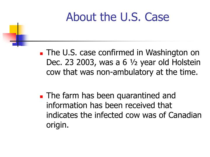 About the u s case