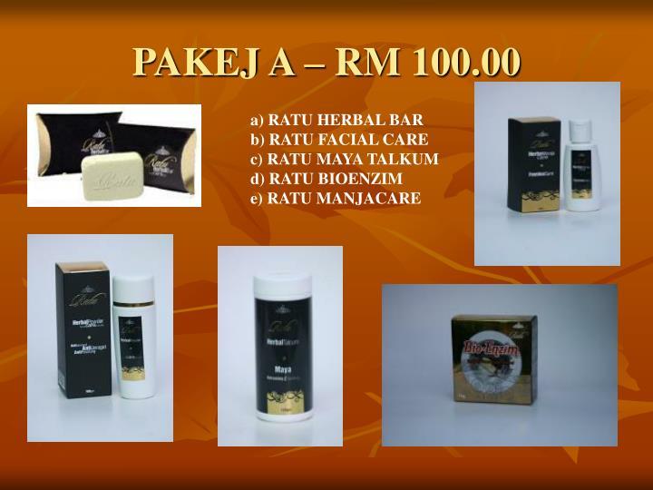 PAKEJ A – RM 100.00