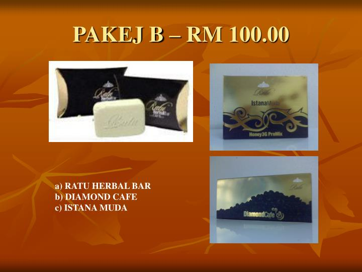 PAKEJ B – RM 100.00