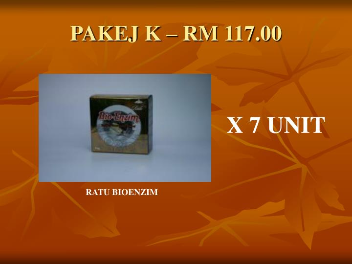PAKEJ K – RM 117.00