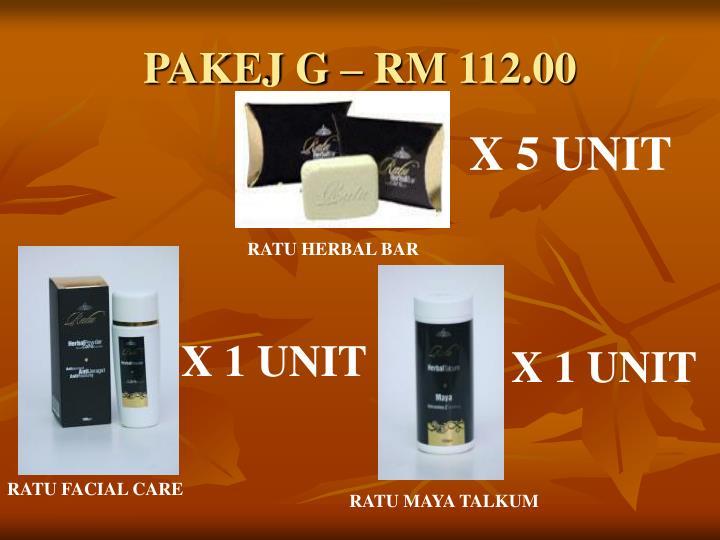 PAKEJ G – RM 112.00