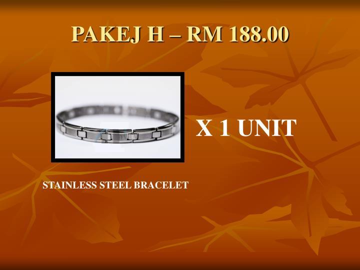 PAKEJ H – RM 188.00
