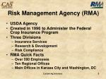 risk management agency rma