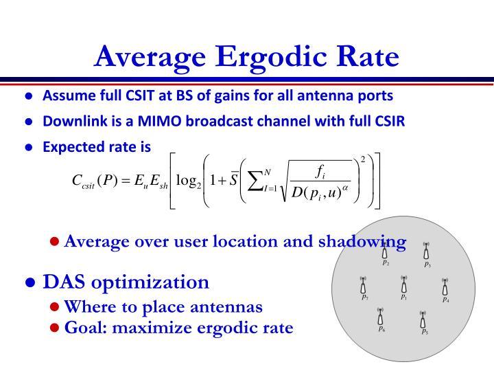 Average Ergodic Rate