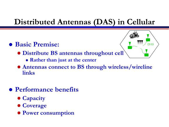 Distributed Antennas (DAS) in Cellular