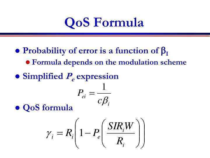 QoS Formula