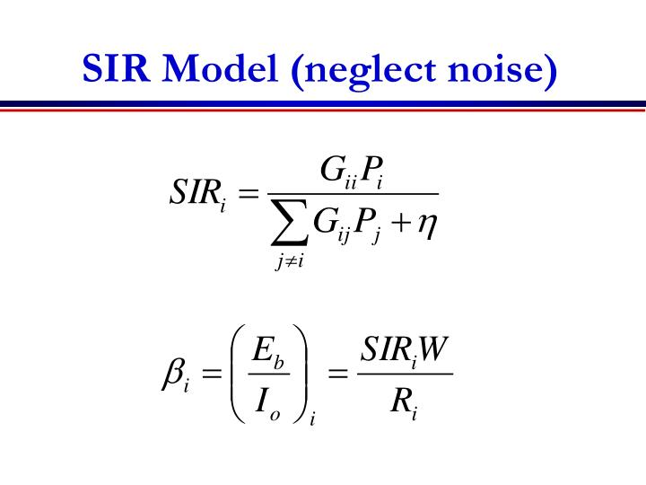 SIR Model (neglect noise)