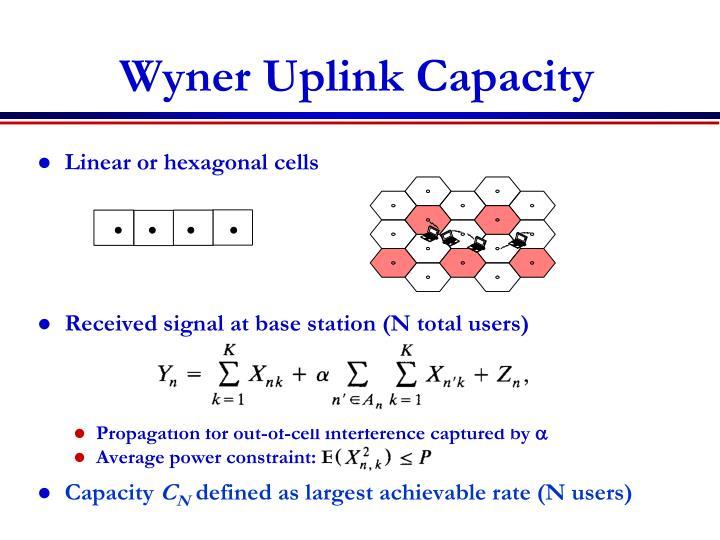 Wyner Uplink Capacity